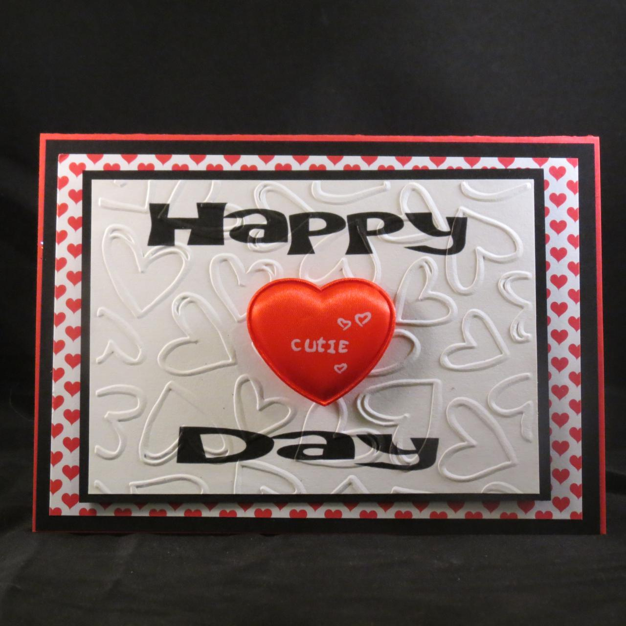 happy heart day pop up card
